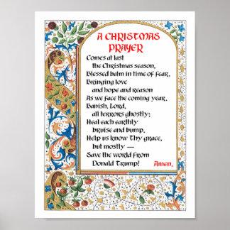 Christmas Prayer (Donald Trump) Poster