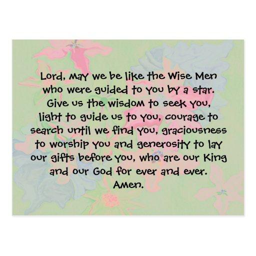 Christmas prayer post cards