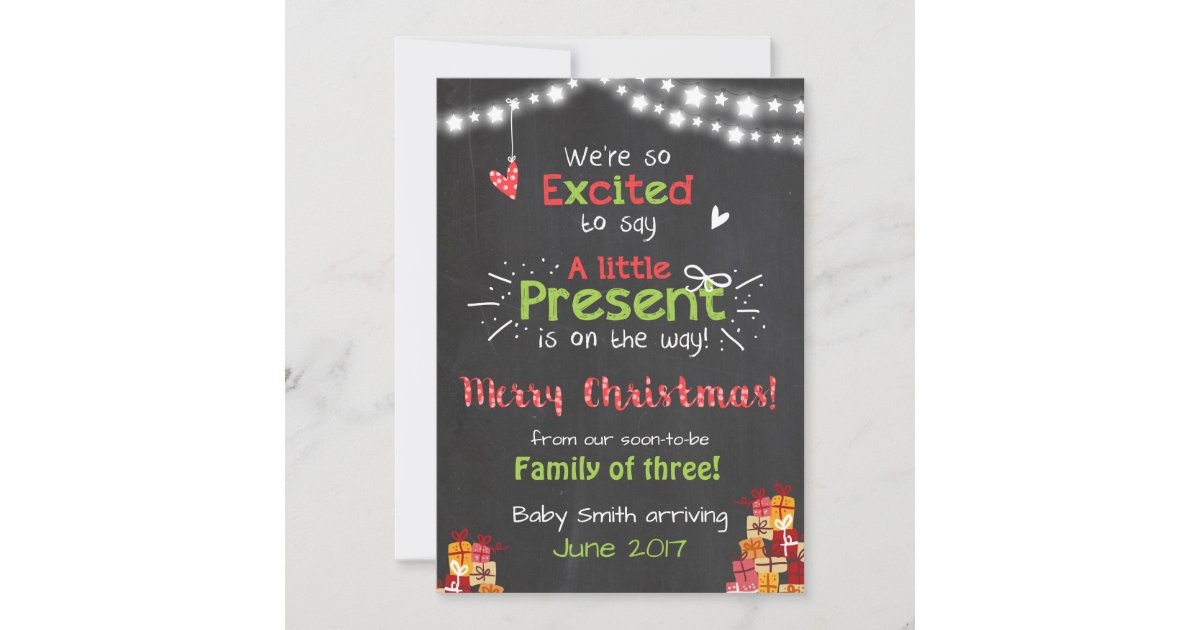 christmas pregnancy announcement card chalkboard zazzle co uk