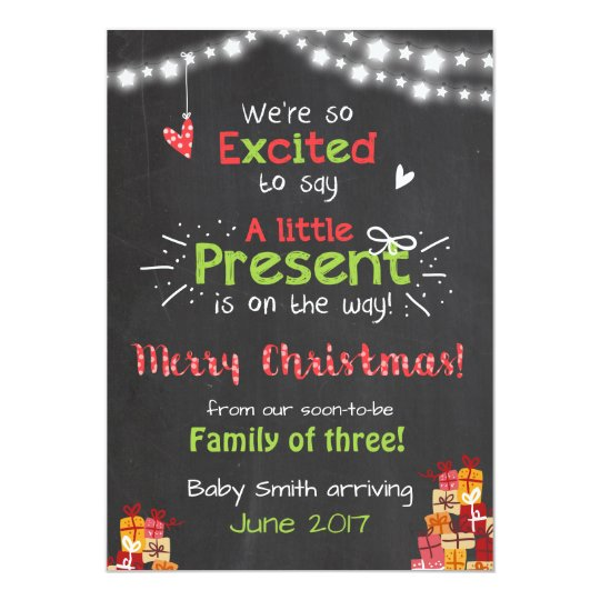 Pregnancy Invitations Announcements – Cute Christmas Baby Announcements