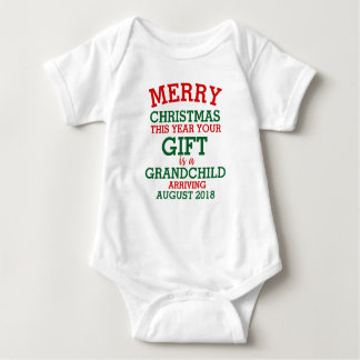 Christmas Pregnancy Announcement - Christmas Baby Baby Bodysuit