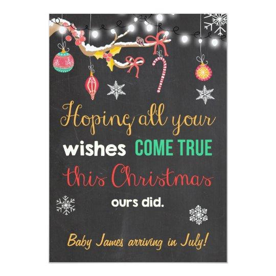 Christmas pregnancy chalkboard announcement
