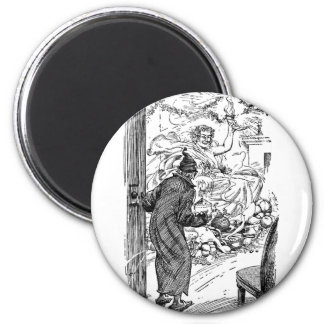 Christmas Present 6 Cm Round Magnet