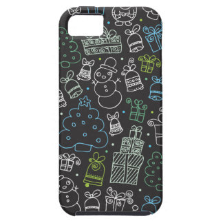 Christmas present and snow design iphone 5 case
