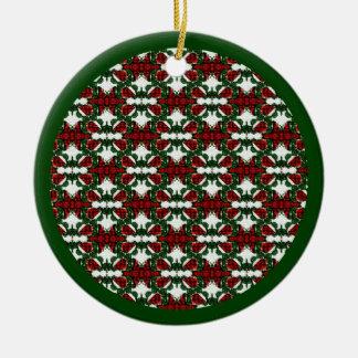 Christmas Present Pattern Christmas Ornament