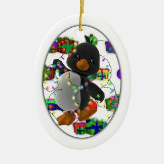 Christmas Present Penguin Christmas Ornament