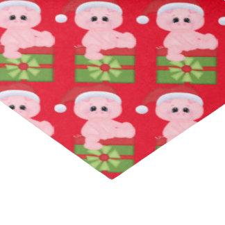 Christmas present pig tissue paper