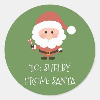 Christmas Present Sticker From Santa