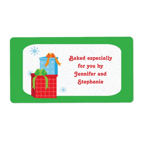 Christmas presents baked goods gift tag labels