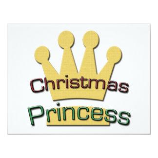 Christmas Princess 11 Cm X 14 Cm Invitation Card