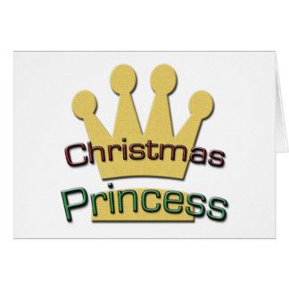 Christmas Princess Greeting Card