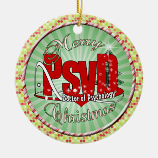 CHRISTMAS PsyD Doctor of Psychology Christmas Ornament
