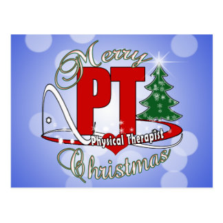 CHRISTMAS PT Physical Therapist Postcard