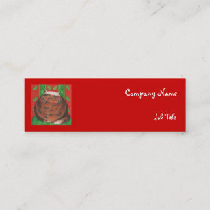 Christmas business cards zazzle uk christmas pud business card template skinny accmission Gallery