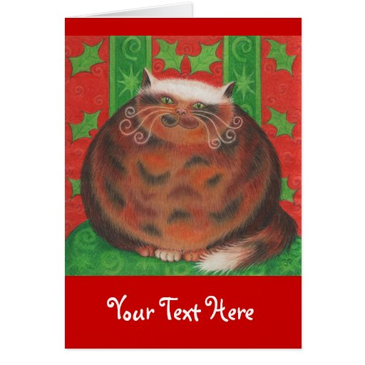 Christmas Pud 'Your Text' greetings card