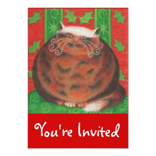 Christmas Pud 'You're Invited' invitation