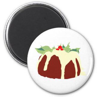 Christmas Pudding 6 Cm Round Magnet