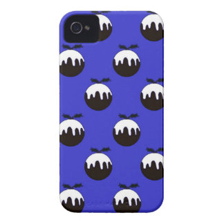 Christmas pudding blue iPhone 4 case