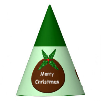 Christmas Pudding Custom Party Hat