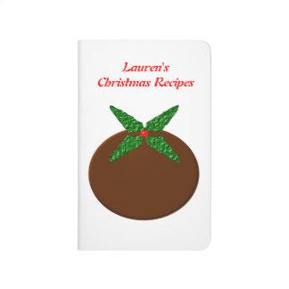 Christmas Pudding Customizable Recipe Journal