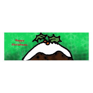 Christmas Pudding Gift Tag Pack Of Skinny Business Cards