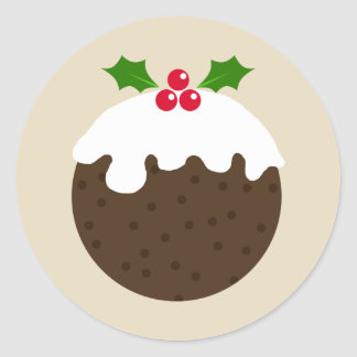 Christmas pudding illustration sticker