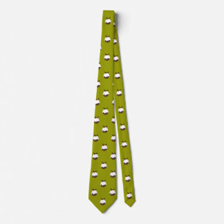 Christmas Pudding on Green Pattern Novelty Tie