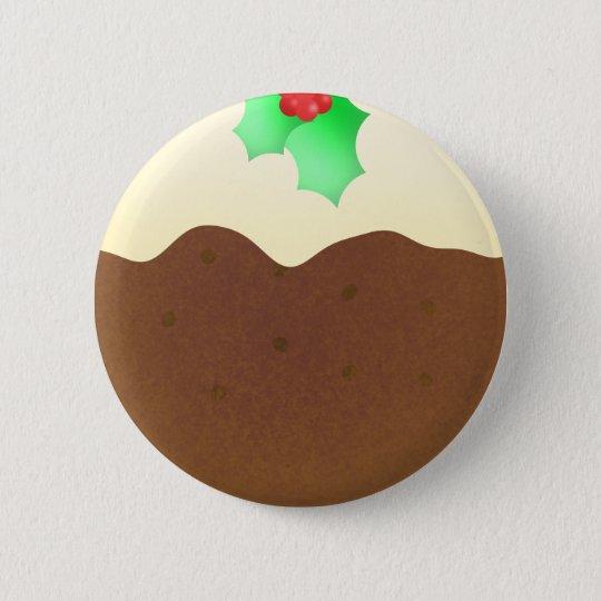 Christmas pudding - pin badge