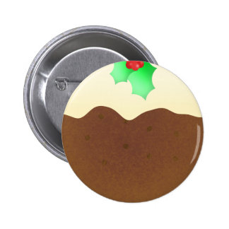 Christmas pudding - pin badge