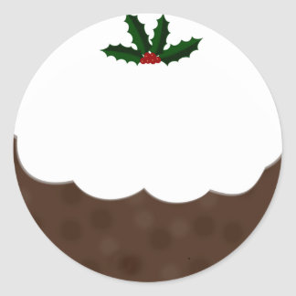 Christmas Pudding Sticker