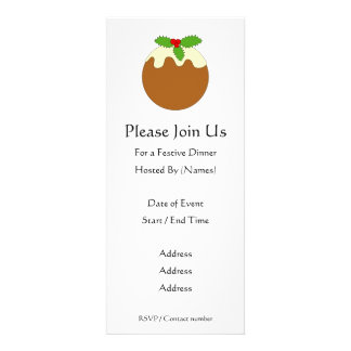 Christmas Pudding White background Personalized Announcements