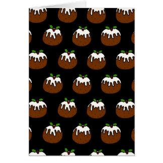 Christmas Puddings Card