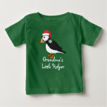 Christmas Puffin with Red Hat & Silver Jingle Bell Baby T-Shirt