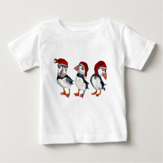 Christmas Puffins Baby T-Shirt