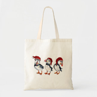 Christmas Puffins Tote Bag