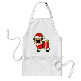 Christmas pug aprons
