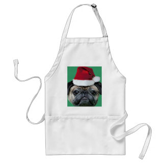 Christmas pug apron