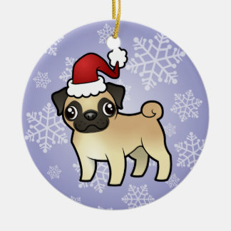 Christmas Pug Christmas Ornament