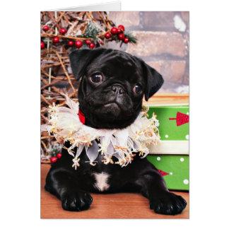 Christmas - Pug - Daisy Mae Greeting Card