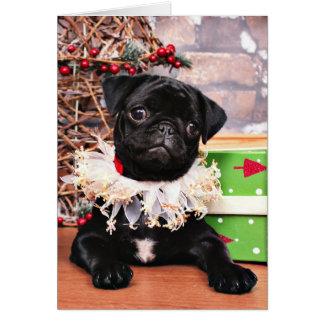 Christmas - Pug - Daisy Mae Note Card