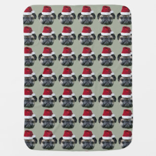 5126e6706a3 Pug Christmas Blankets   Personalised Blankets