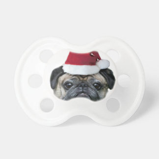 Christmas pug dog dummy