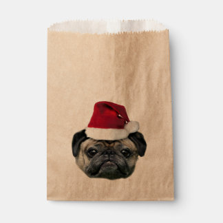 Christmas pug dog favour bags