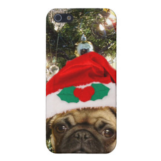 Christmas Pug dog iPhone 5 Cases