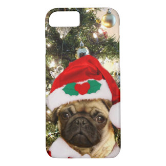 Christmas Pug dog iphone 7 case