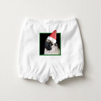 Christmas pug dog nappy cover