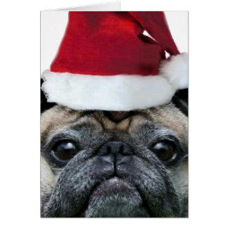 Christmas Pug dog notecard