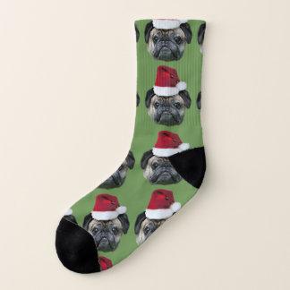 Christmas pug dog socks 1