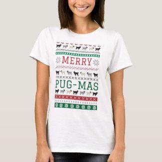 Christmas Pug-Mas Pugs Fun Cute Dogs X-Mas T-Shirt