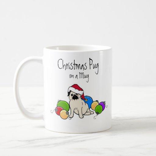 christmas pug coffee mugs
